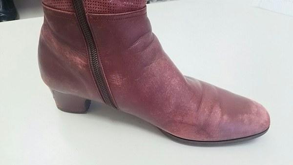 ブーツの塗装サムネイル